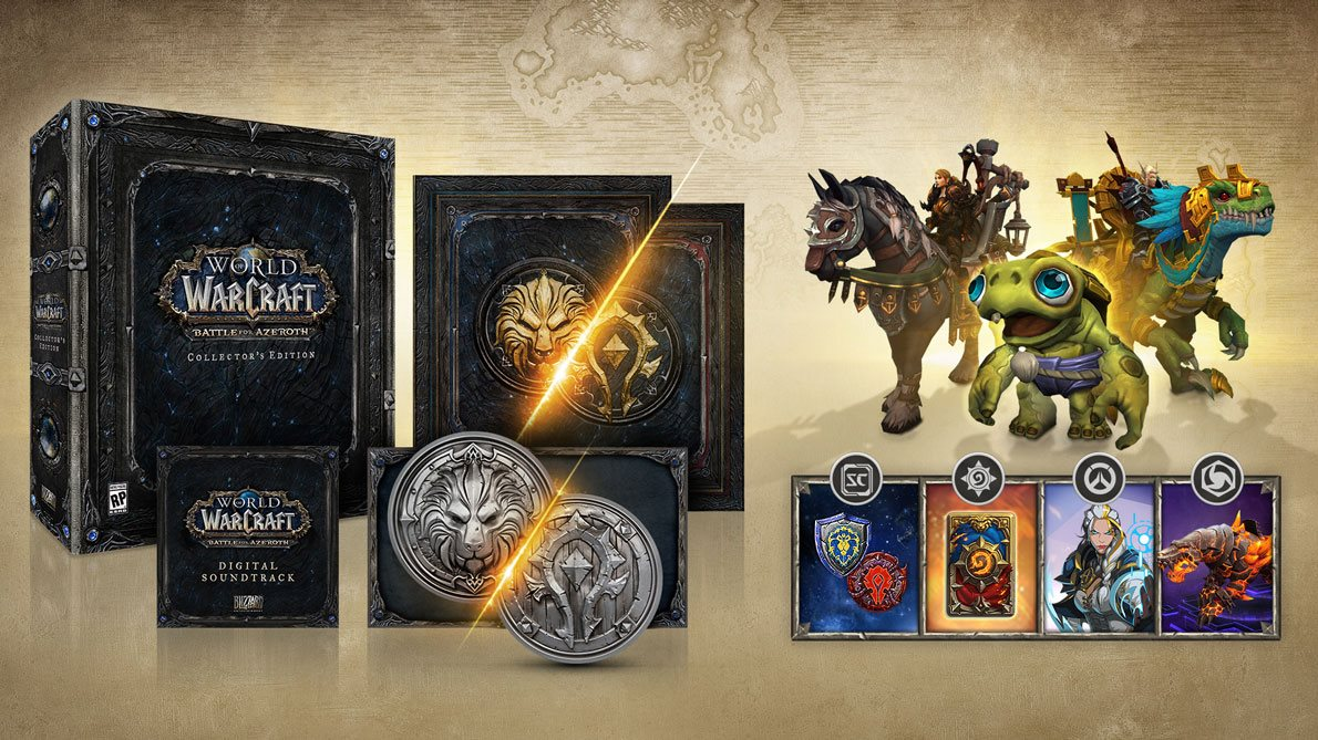 Klik pro zvětšení (Unboxing- World of Warcraft Battle for Azeroth Collectors Edition PC)