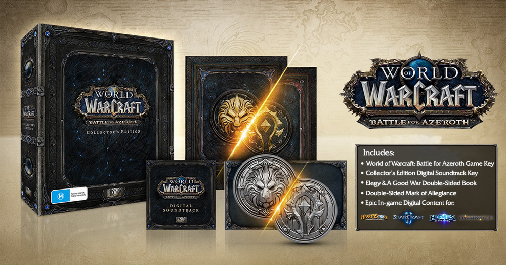 Unboxing- World of Warcraft Battle for Azeroth Collectors Edition PC