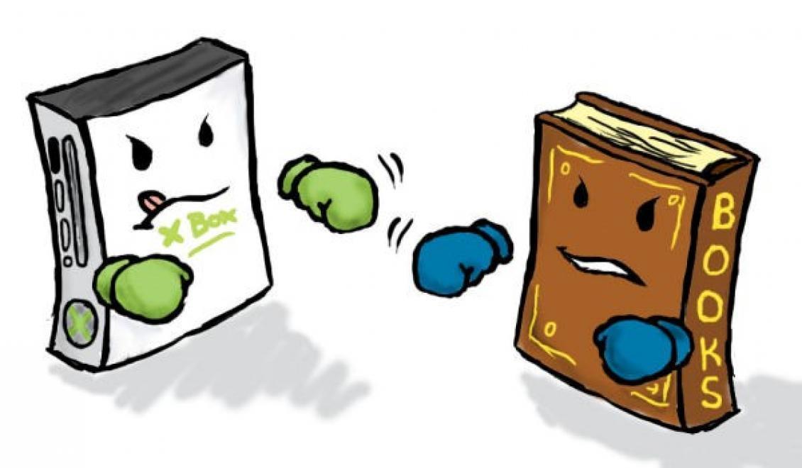 Knižnica v ktorej nájdete vedľa kníh svoje obľúbené hry  Realita ... 821069f5cc3